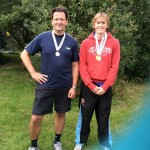 Morgane Spillane & Ed Kay - runners up SE Doubles August 2014