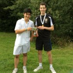 Ben Beltrami (r) and Ben Chua win the SE Doubles