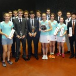 Cambridge squad with 3 trophies and Pol Roger champagne