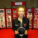 Georgina Shepherd, ladies U23 Singles Plate winner